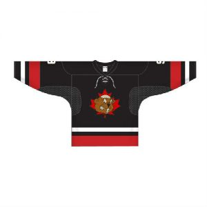 hockey jersey black front